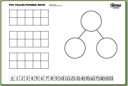 Decompose numbers using number bonds