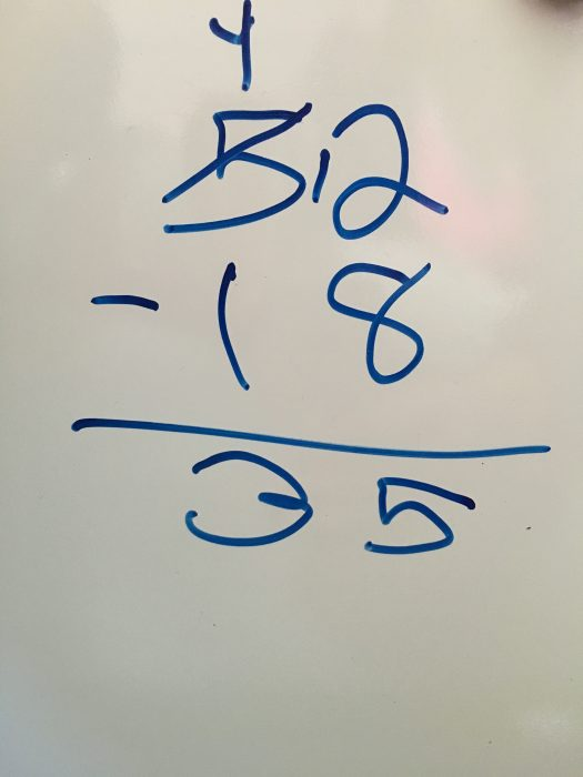 Subtraction mistake when learning math facts