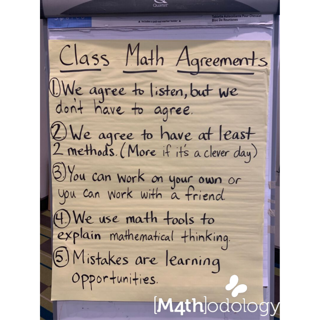 Class Math Agreements and Community and Mathodology