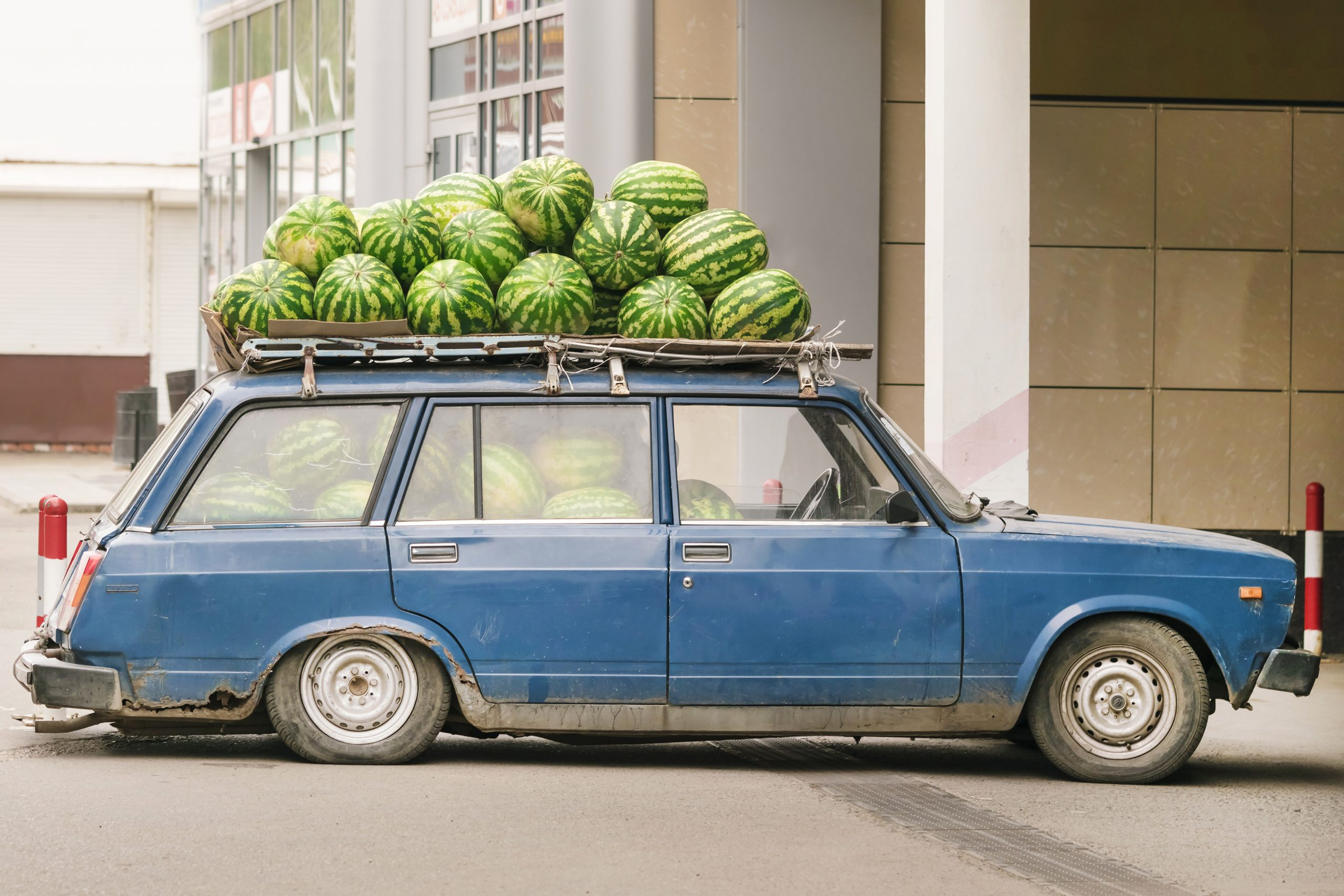 Car with watermelons for word problem